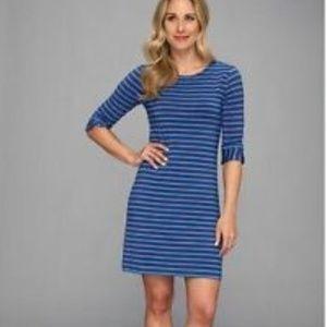 Hatley blue striped dress size L // H40